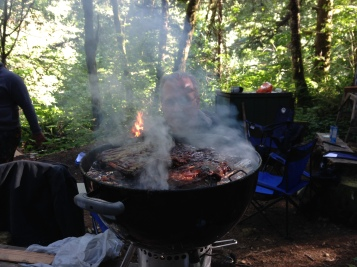 Although the bar-bee presents some health risk... I use white oak quarters to make natural briquettes... 'Chemical free.'